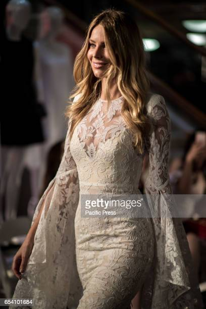 The Face of Myer Jennifer Hawkins showcases designs by Alex Perry during the Myer Fashion Runway at Myer Sydney flagship store The inaugural Myer...