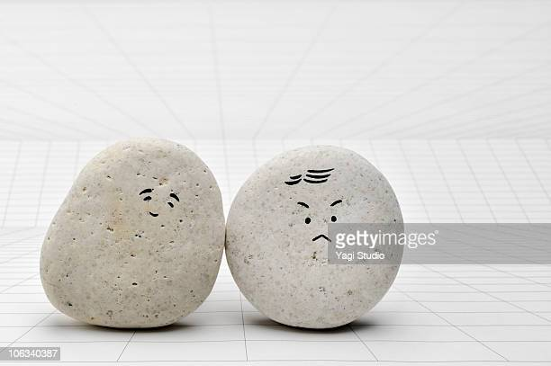 The face of the person written in the stone
