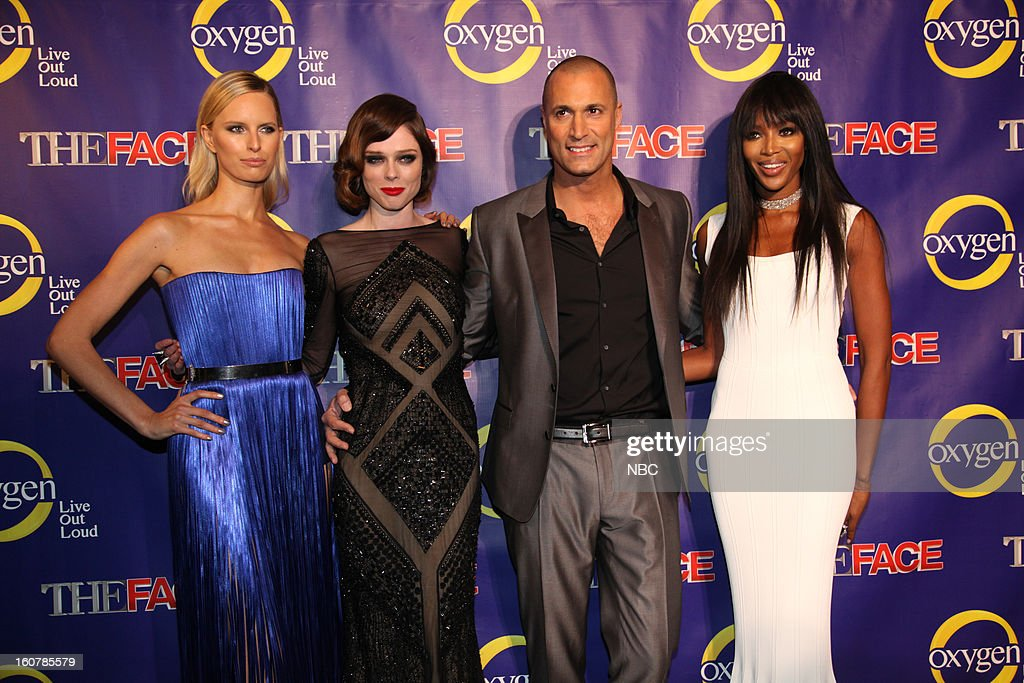EVENTS -- 'The Face' Premiere Party and Upfront 2013 -- Pictured: (l-r) Karolina Kurkova, Coco Rocha, Nigel Barker, Naomi Campbell --