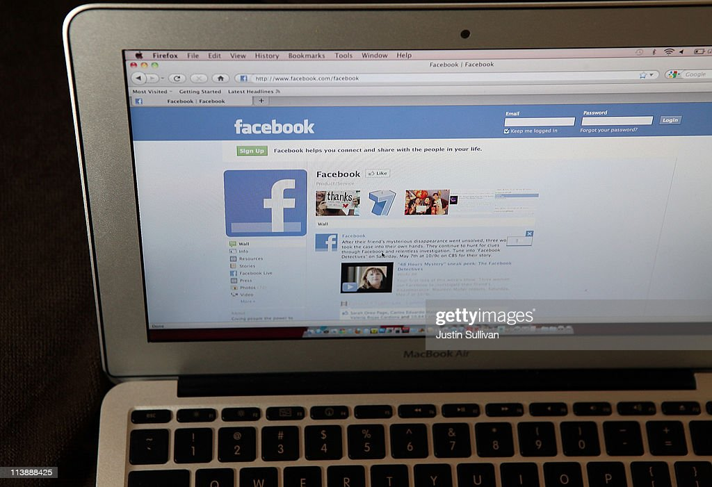 The Facebook website is displayed on a laptop computer on May 9, 2011 in San Anselmo, California. An investigation by The Pew Research Center found that Facebook has become a player in the news industry as the popular social media site is driving an increasing amount of traffic to news web sites.