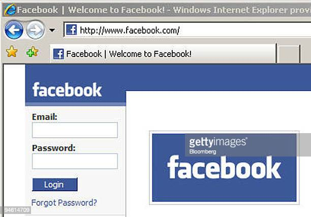 The facebookcom webpage is displayed in a Microsoft Explorer browser window on a computer in New York US on Monday Sept 24 2007 Microsoft Corp...