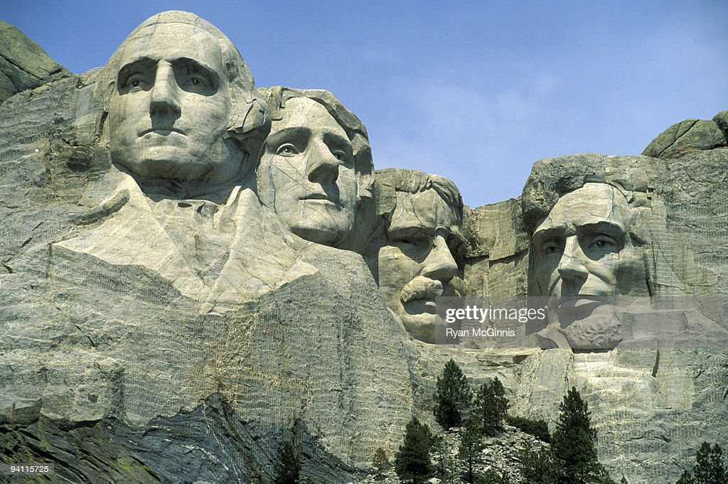 The Faces of Mount Rushmore : Stock Photo