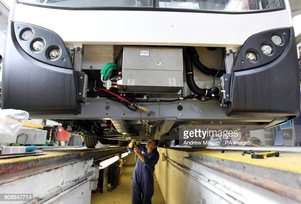 The factory floor of Alexander Dennis bus builders in Falkirk