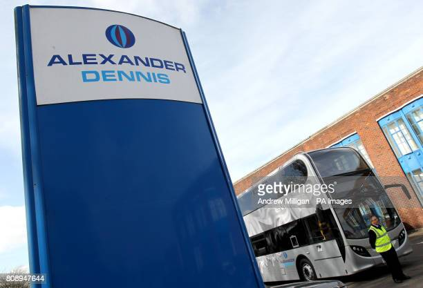 The factory of Alexander Dennis bus builders in Falkirk