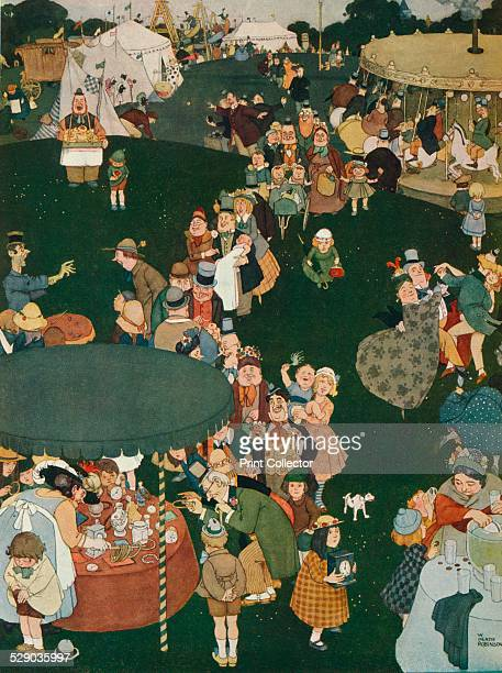 The Fair Day After a watercolour by William Heath Robinson From The Studio Volume 89 [London Offices of the Studio London 1925]