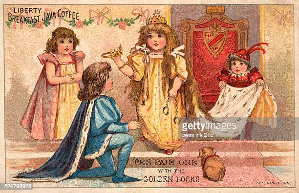 The Fair One with the Golden Locks Trade Card for Libery Breakfast Java Coffee