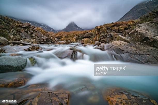 The Fairy Pools, Black Cuillin mountains, Isle of Skye, Scotland, UK