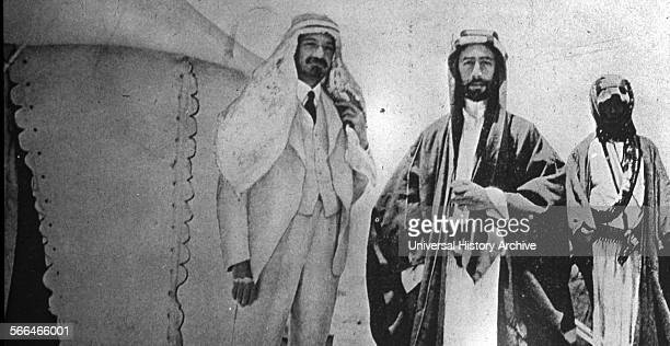 The Faisal–Weizmann Agreement 3 January 1919 signed by Emir Faisal and Chaim Weizmann as part of the Paris Peace Conference 1919 settling disputes...