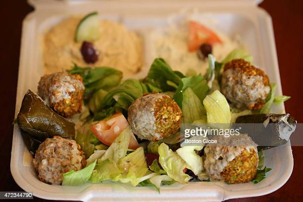 The falafel lunch plate at Cafe Med photographed on April 30 2015