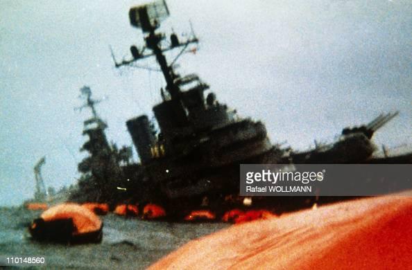 The Falklands War in Port Stanley Falkland Islands in April 1982 Belgrano