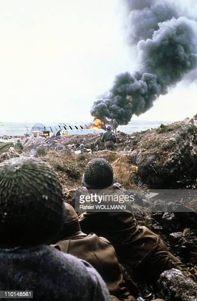 The Falklands War in Port Stanley Falkland Islands in April 1982 The Falklands War