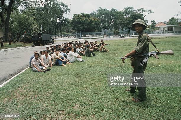 The Fall of Ho Chi Minh Vietnam in April 1975Captive members of the government with Vietcong