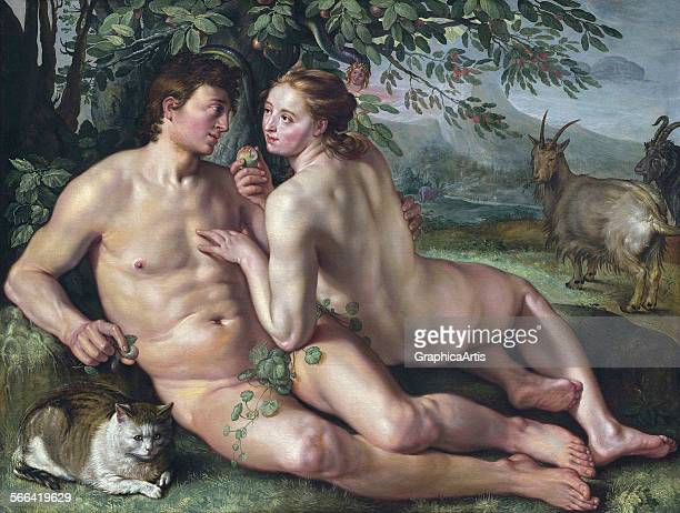 The Fall of Man by Hendrik Goltzius oil on canvas 1616 From the National Gallery Washington DC