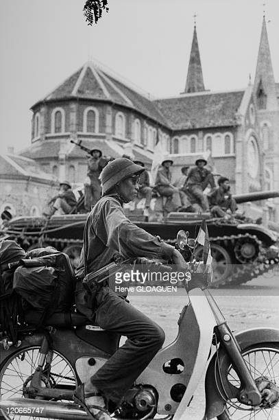 The Fall of Saigon in Vietnam on April 30 1975 Arrival of the North Vietnamese troops