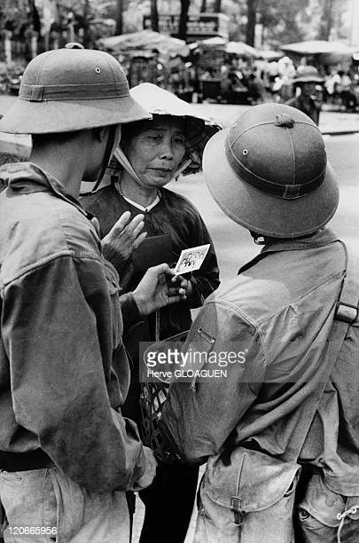 The Fall of Saigon in Vietnam on April 30 1975 First contact between a local civilian and two North Vietnamese soldiers