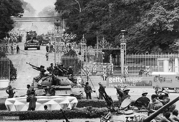 The Fall of Saigon in Vietnam on April 30 1975 The northVietnamese tanks invade the Doc Lap palace