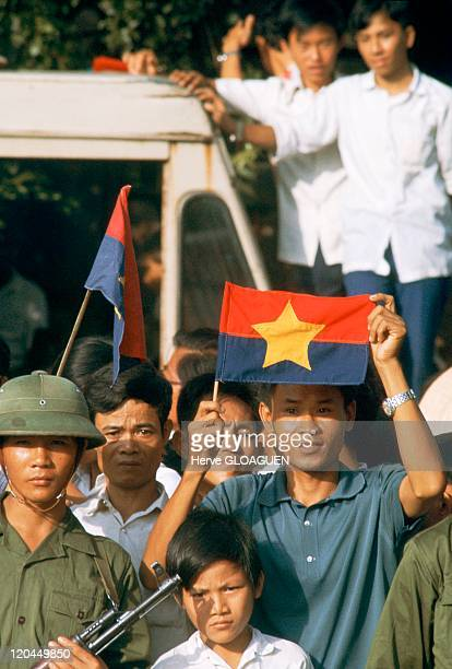 The Fall of Saigon in Vietnam on May 07 1975 Meeting from May 7 in Saigon