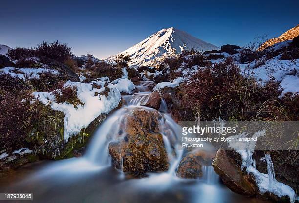 The falls in Tongariro Crossing