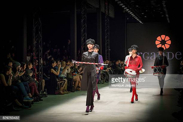 The Fall/Winter show at Argande a more traditional line of Turkish clothing is shown at Istanbul Fashion Week in Istanbul Turkey