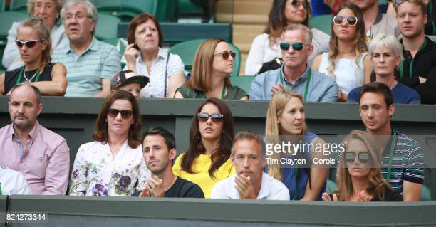 The Family box of Martina Hingis of Switzerland and Jamie Murray of Great Britain during the Mixed Doubles Final on Center Court during the Wimbledon...