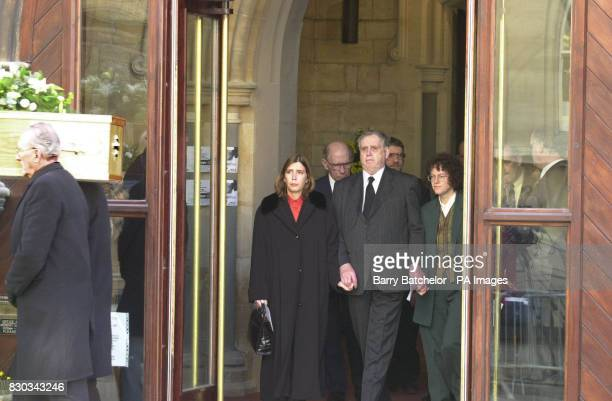 The family of Andrew Pennington leaving St Matthew's Church Cheltenham after the memorial sevice for Mr Pennington The Liberal Democrat aide died in...