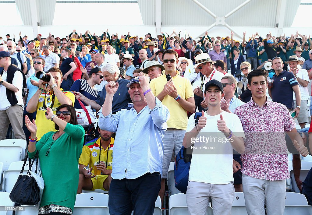The family of Ashton Agar of Australia, parents John and Sonia and brothers Wesley and Williams look on during day two of the 1st Investec Ashes Test match between England and Australia at Trent Bridge Cricket Ground on July 11, 2013 in Nottingham, England.
