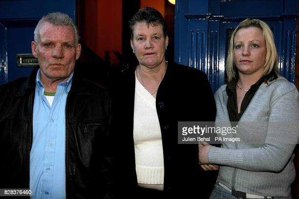 The family of Helen Power at the Coroners Court after the inquest into a fatal car crash left to right father Christopher mother Elizabeth and sister...