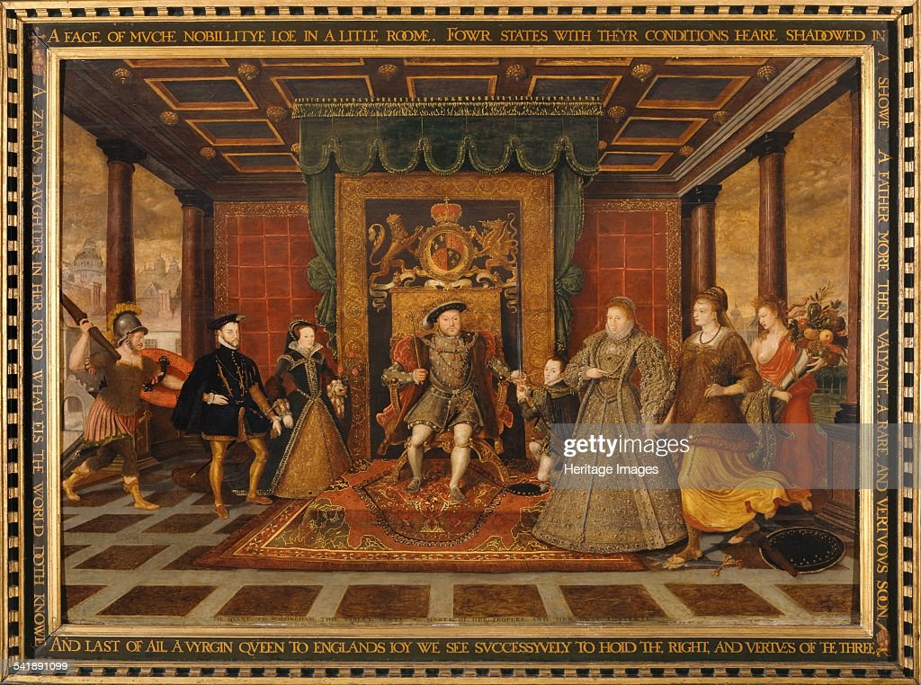 An Allegory of the Tudor Succession' 1572 Artist King Henry Viii Lucas De Heere