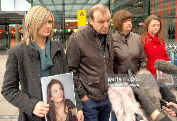 The family of murdered British teacher Lindsay Ann Hawker from Brandon near Coventry left to right Lisa Hawker parents Bill and Julia Hawker and...