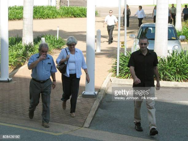 The family of murdered man Peter Falconio Luciano and Joan Falconio and their sons Nick and Paul arrive at the Northern Territory Supreme Court in...