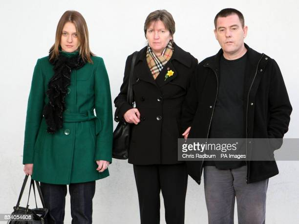 The family of murdered prostitute Paula Clennelll sister Alice Bradshaw mother Isobella Clennell and her partner Andy Knock arrive at Ipswich Crown...