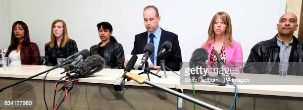 The Family of murdered prostitute Tania Nicol Left to Right her aunt Finney Nicol half sister Sarah Duell aunt Kipti Nicol DC Nick Shrubshall aunt...