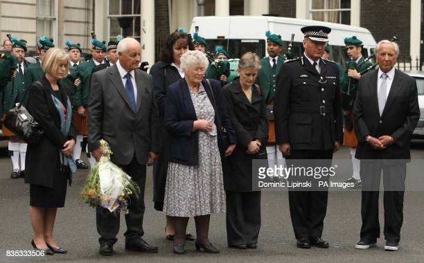 The family of Pc Yvonne Fletcher sister Sarah Parsons parents Tim and Queenie Fletcher sister Heather Allbrook Metropolitan Police Chief Commissioner...