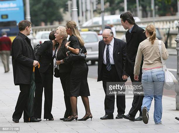 The Family of Rachel O'Reilly before entering the Central Criminal Court in Dublin for Joe O'Reilly trial