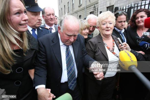 The family of Rachel O'Reilly including her Mother Rose and Father Jim Callaly leave the Central Criminal Court Dublin