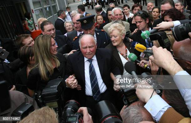 The family of Rachel O'Reilly including her Sister Ann Mother Rose and Father Jim Callaly leave the Central Criminal Court Dublin