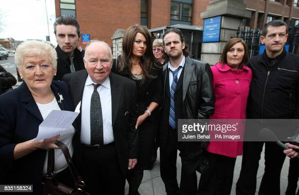 The family of Rachel O'Reilly including parents Rose and Jim Callely outside court after Joe O'Reilly lost an appeal over his conviction for brutally...
