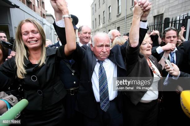 The family of Rachel O'Reilly leave the Central Criminal Court Dublin