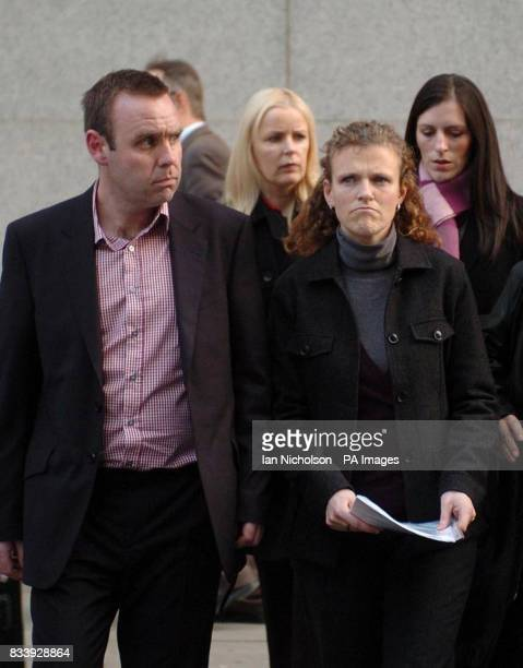 The family of stabbing victim Richard Whelan leave the Old Bailey after Anthony Joseph pleaded guilty to manslaughter Brotherinlaw Kevin Ward...