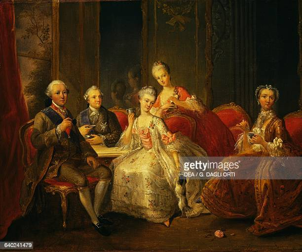 The family of the Duke of Penthievre or The Cup of Chocolate by JeanBaptiste Charpentier the Elder oil on canvas 176x256 cm France 18th century...