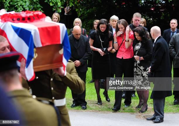 The family of the killed British soldier Sapper Jordan Rossi Addish Sadik sister Kelly Fallon sister Lynsay Fallon and mother Theresa Rossi follow...