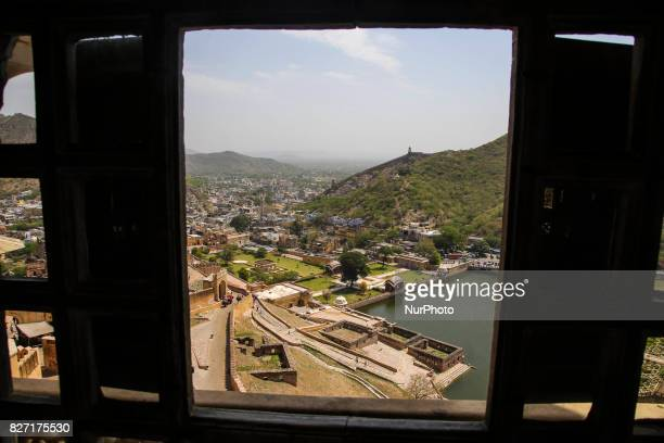 The famous Amber Fort in Jaipur India with more than 15 million visitors per year Build in 1592 by Raja Man Singh from materials that were ritch in...
