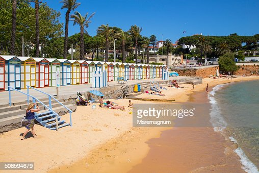 The famous Banys de S'Agarò on the S'Agarò beach : Foto de stock