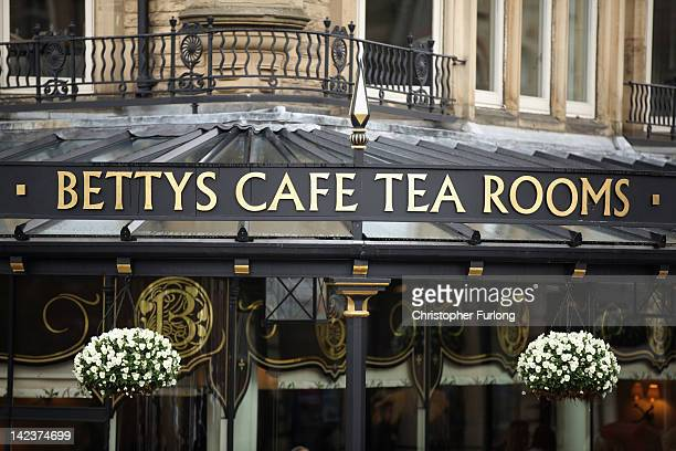 The famous Bettys Cafe and Tea Rooms in the Spa town of Harrogate on April 3 2012 in Harrogate England With only a few months to go until the opening...
