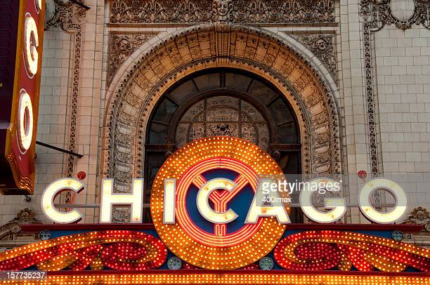 The Famous Chicago Marquee Theater Sign