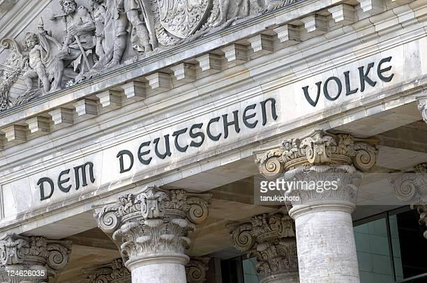 Die berühmte Inschrift'Dem Volke'Church