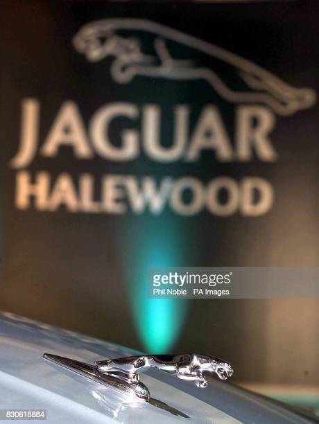 The famous leaping Jaguar on top of the bonnet of the new Jaguar XType at a photocall to mark the official opening of the Halewood Manufacturing...