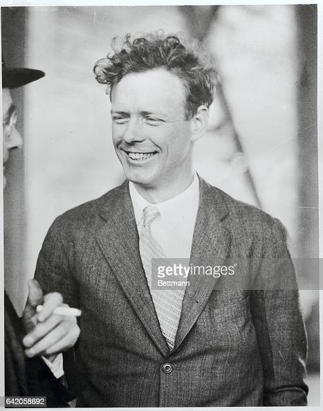 The famous Lindy smileLike the Lindy of old Colonel Charles A Lindbergh smiles broadly as he lands at Pittsburgh Pennsylvania April 21st during his...