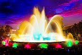 The famous Montjuic Fountain in Barcelona.Spain, Catalonia