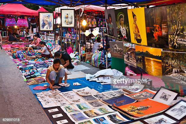 The Famous Night Market Sells A Variety Of Handicrafts For Tourists Luang Prabang Laos